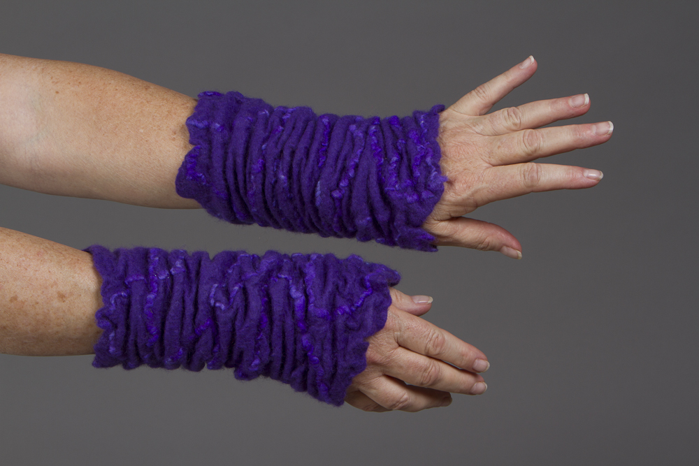 Felted Wrist Cuffs by Deb Tewell Milkweed Designs