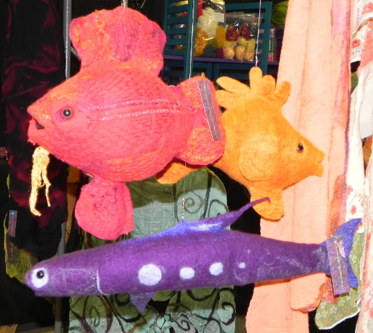 I traded the purple fish at the Wool Market
