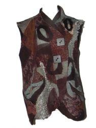 Aqua-Brown 4-Way Vest