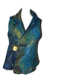 Teal-Gold 4-Way Vest