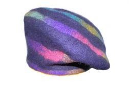 Rainbow Spiral Beret-Medium