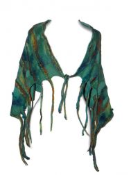 Whimsical Fringe Wrap- Aqua