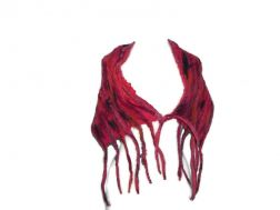 Whimsical Fringe Wrap - Fuchsia