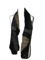 Shambolic Scarf-Black & Tan