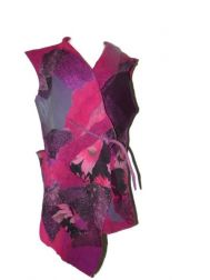 Fuchsia Tie 4-Way Vest