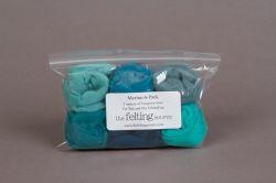 Merino 6-Packs Turquoise hues - 2 ounces